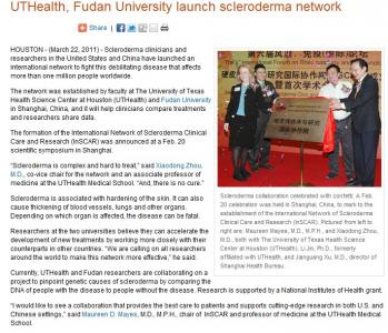 Scleroderma Network Launched